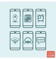 Smartphone icon isolated vector image