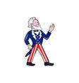 Uncle Sam Waving Hand Crest Cartoon vector image