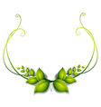 A simple leafy border vector image vector image