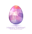 Abstract triangles egg vector image vector image