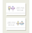 Birds girl with bow skirt and boy in hat tie vector image