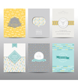 Set of Geometric Brochures and Cards vector image vector image