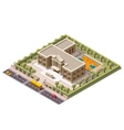 isometric school vector image
