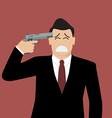 Businessman committing suicide vector image vector image