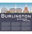 Burlington Vermont City Skyline with Color Buildin vector image