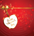 valentines day heart label backround 1412 vector image vector image