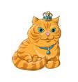 a cute cat vector image