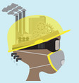 abstract head of safety in industry safety first vector image