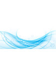 blue waves on white background abstract vector image
