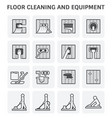 floor cleaning icon vector image