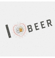I love beer badges logos and labels for any use vector image