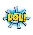 lol comic word vector image