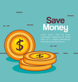 save money coins icon vector image