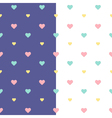 Seamless heart pattern purple and white vector image