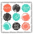 Set of 9 decorative wedding elements vector image