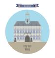 City Hall Mons vector image