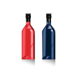Wine Bottles Retro vector image vector image