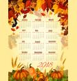 autumn icons of leaf fall and harvest vector image