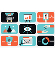 Flat of web analytics information and development vector image vector image