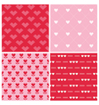 Valentines Day Heart Patterns vector image vector image