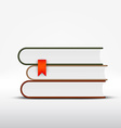 books on white background vector image