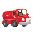 Funny red old-styled tanker truck vector image