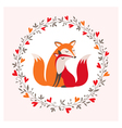 Fox couple vector image vector image