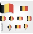 Belgium flag icon set vector image