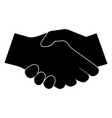 business handshake the black color icon vector image