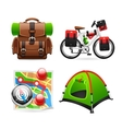 Colorful Tourism Icons vector image