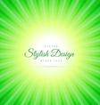 green sunburst background vector image