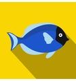 Surgeon fish icon flat style vector image