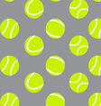 Tennis ball seamless pattern background vector image