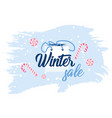 winter sale promo banners vector image