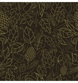 pattern of autumn leaves berries grass vector image