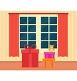holiday gift on living room vector image