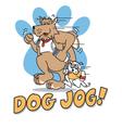 Dog jog vector image
