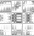 Set of nine monochrome square pattern backgrounds vector image
