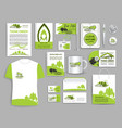 corporate identity set ecology company templates vector image vector image