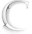 Sketch font Letter C vector image