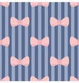 Seamless pattern pastel pink bows on navy blue vector image