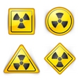 nuclear symbol vector image vector image