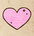 Hand Drawn Love Heart vector image