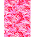 Red and pink tropical leaves in repeat pattern vector image vector image