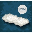 clouds low poly design vector image