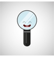 magnifying glass character design vector image