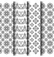 304black and white geometric pattern setVS vector image