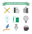 abstract education related vector image