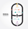 infographics medical capsule design vector image