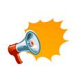 loudspeaker megaphone bullhorn icon or symbol vector image